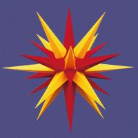 Herrnhuter Außenstern  rot-gelb 68 cm